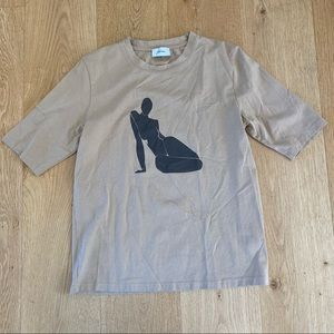 NAKD Artist Graphic Short Sleeve Tee in Tan size S